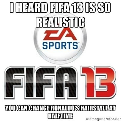 Ronaldo Changes His Hairstyle In Half Time In Fifa 13 Football Trolls